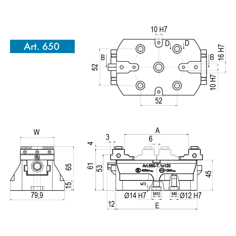 Moduláris precíziós satu, 5-tengelyes gépekhez, kompakt kivitel - CompactGrip