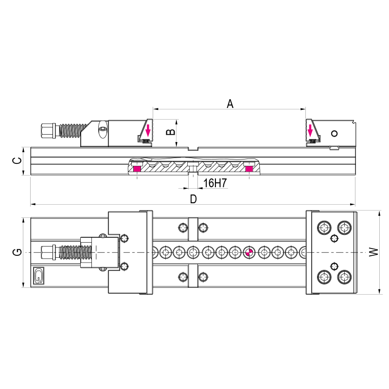 Moduláris precíziós satu, extra hosszú kivitel - XL