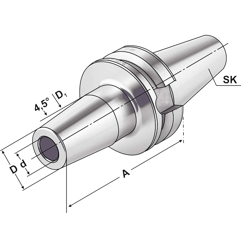 BT Dual Contact csatlakozású zsugorkötésű szerszámtartó AD/B hűtéssel