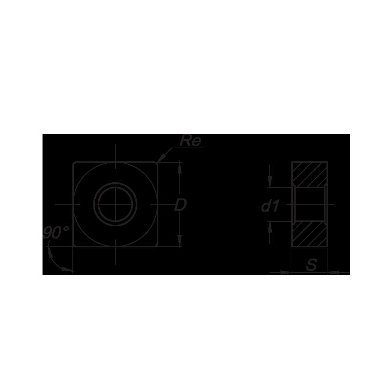 SNMG esztergalapka, 8 élű, SS forgácstörővel