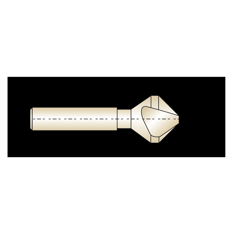 3 élű HSS-Co8-as kúpsüllyesztő, 90°-os csúcsszöggel