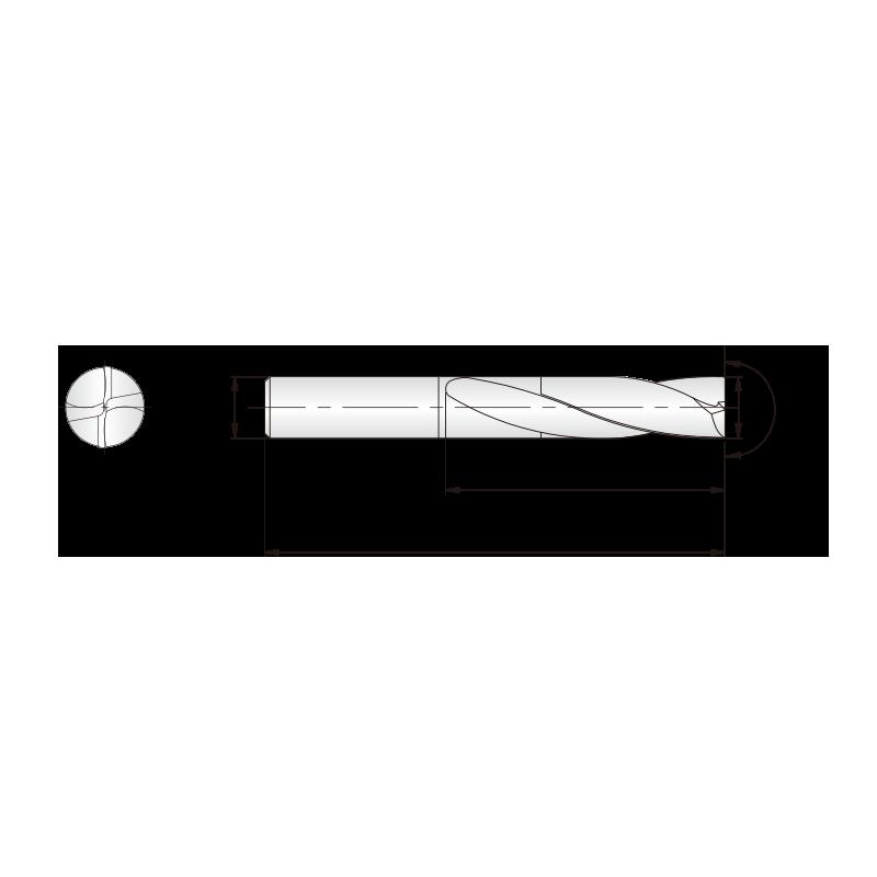 Dream Drills Flat Bottom bevonatos KMF fúró 2xD