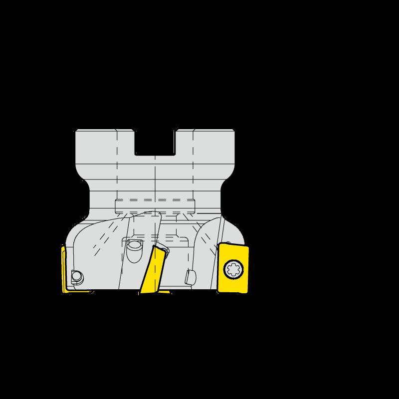 APKT16 marólapka és marófej készlet, feltűzhető