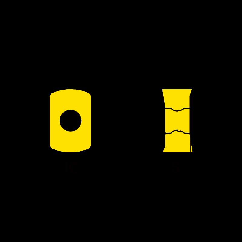 ENMX06 marólapka és marófej készlet, hengeres szárú