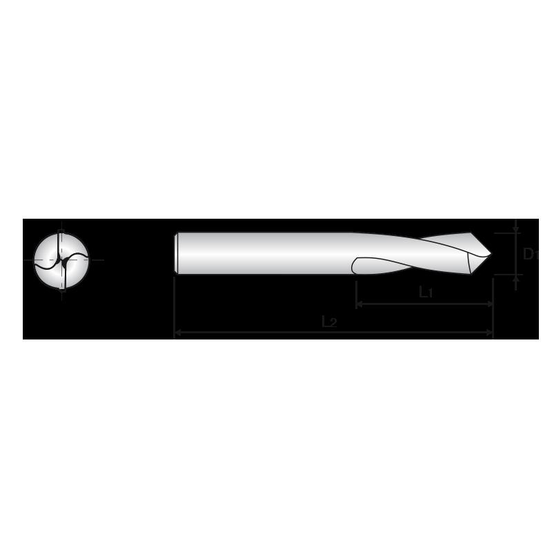 HSS-Co8-as NC központfúró, 90°-os csúcsszöggel