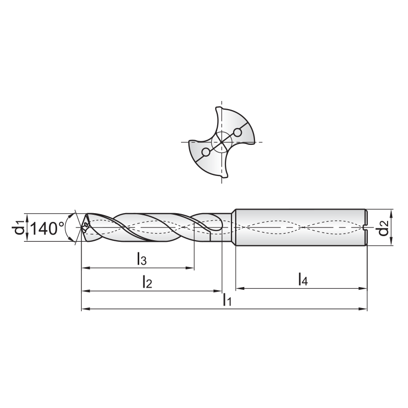 SU series, bevonatos KMF fúró 5xD, belső hűtéssel