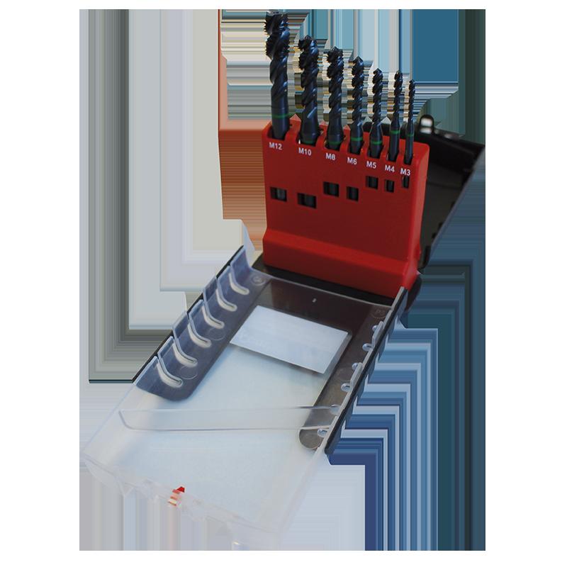 Vaporizált, spirálhornyú HSS-E Combo Taps gépi menetfúró készlet - M